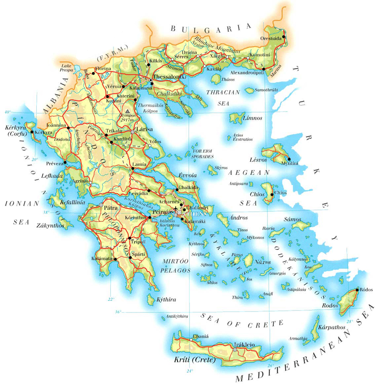 Maps of Greece Greece Maps on